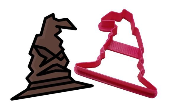 COOKIE CUTTER HARRY POTTER SORTING HAT HOGWARTS SCHOOL - 3D PRINT