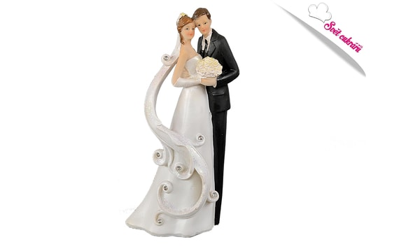 WEDDING CAKE TOPPER - NEWLY WED COUPLE 21 CM