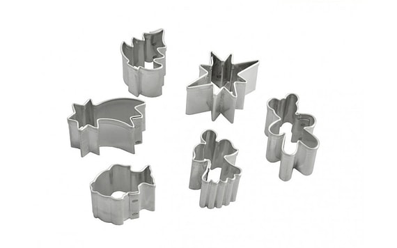 SET OF DOUGH CUTTERS 6 PC. SMALL