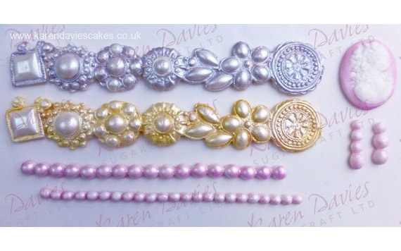 MOULDS - BROOCH BORDER,SINGLE PEARLS & CAMEO