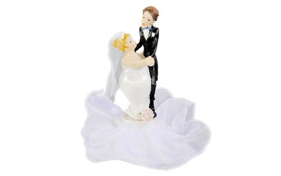 WEDDING CAKE TOPPERS - NEWLYWEDS 17CM