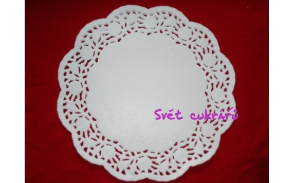 CAKE PAPER LACE DOILY 30 CM/100 PC. PER PACK