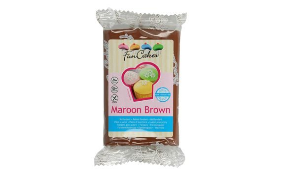 BROWN ROLLED FONDANT MAROON BROWN (COLOUR FONDANT) 250 G
