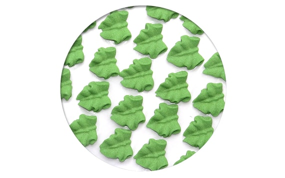 SUGAR DECORATION - LEAVES 35 PC CRINKLED
