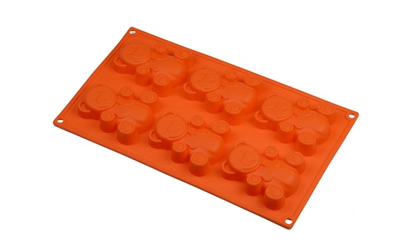 6 TEDDY BEARS - SILICONE MOULD TRAY