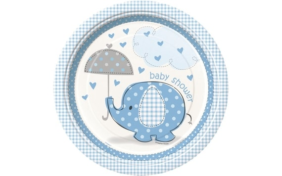 "TALÍŘE UMBRELLAPHANTS ""BABY SHOWER"" - KLUK / BOY 22 CM"