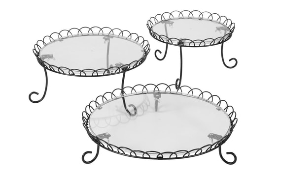 WILTON 3 TIER IRON TREAT STAND