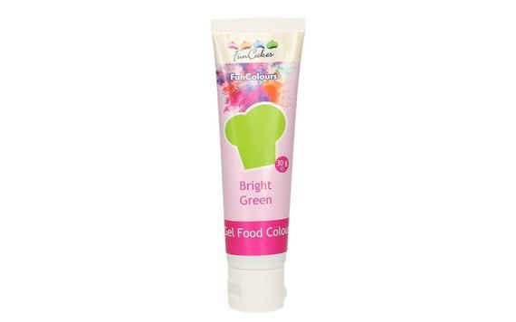 EDIBLE FUNCOLOURS GEL - BRIGHT GREEN 30 G