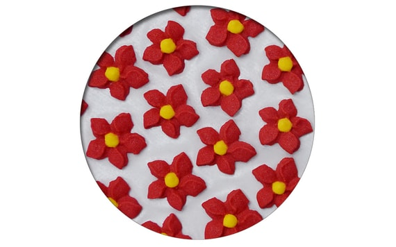 SUGAR DECORATIONS - DAHLIAS 28 PC. RED