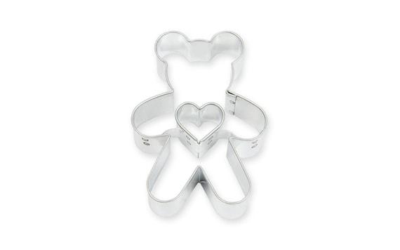 DOUGH CUTTER TEDDY BEAR + HEART