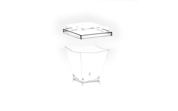 LID FOR A DIAMANTE CUP 120 ML (SET OF 10 PC.)