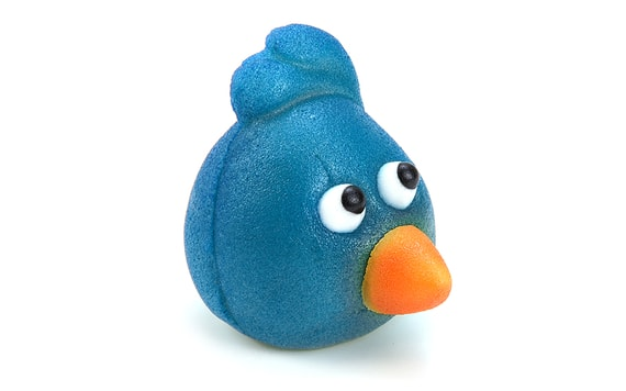 ANGRY BIRDS BLUE - MAZIPAN CAKE TOPPER