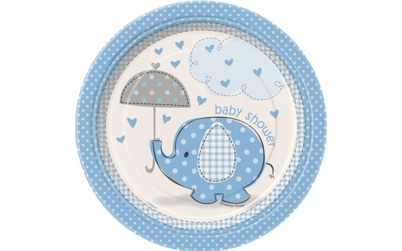 "TALÍŘE UMBRELLAPHANTS ""BABY SHOWER"" - KLUK / BOY 17 CM"