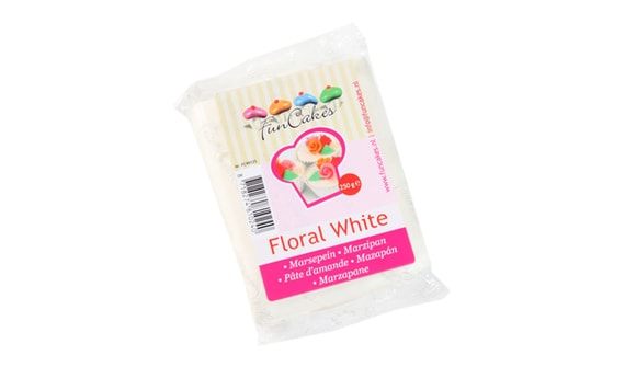 MARCIPÁN BIELY FLORAL WHITE 250 G