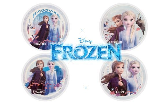 EDIBLE PAPER FROZEN - ELSA WITH OLAF