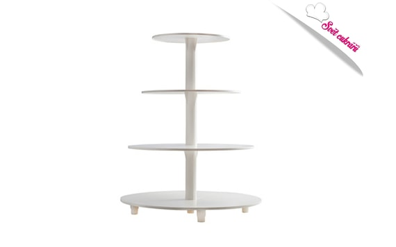 CAKE STAND 4 TIER WITH A CENTRE COLUMN