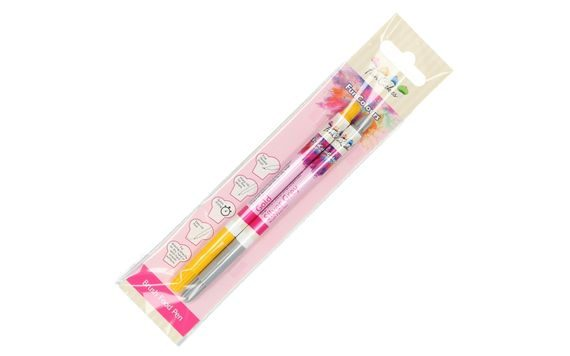 FUNCAKES FUNCOLOURS BRUSH FOOD PEN GOLD-SILVER 2PCS SET