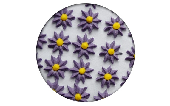 SUGAR DECORATION - ASTER 35 PC. PURPLE