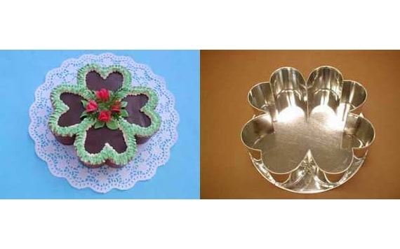 CAKE TIN FOUR-LEAF CLOVER 25 CM MIDDLE