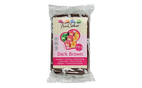 BROWN MARZIPAN DARK BROWN 250 G