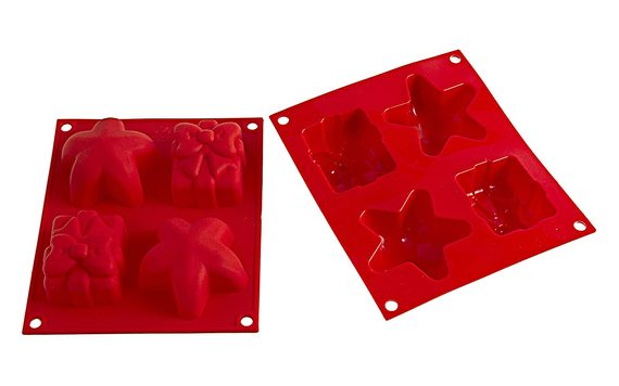 SILICONE MOULDS ON A SHEET CHRISTMAS