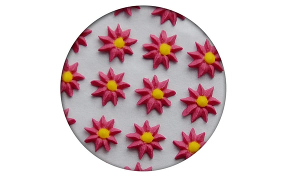 SUGAR DECORATION - ASTER 35 PC. RED