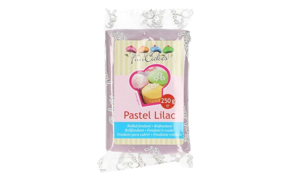 LILAC ROLLED FONDANT SOFT LILAC (COLOURED FONDANT) 250 G - LIGHT LILAC