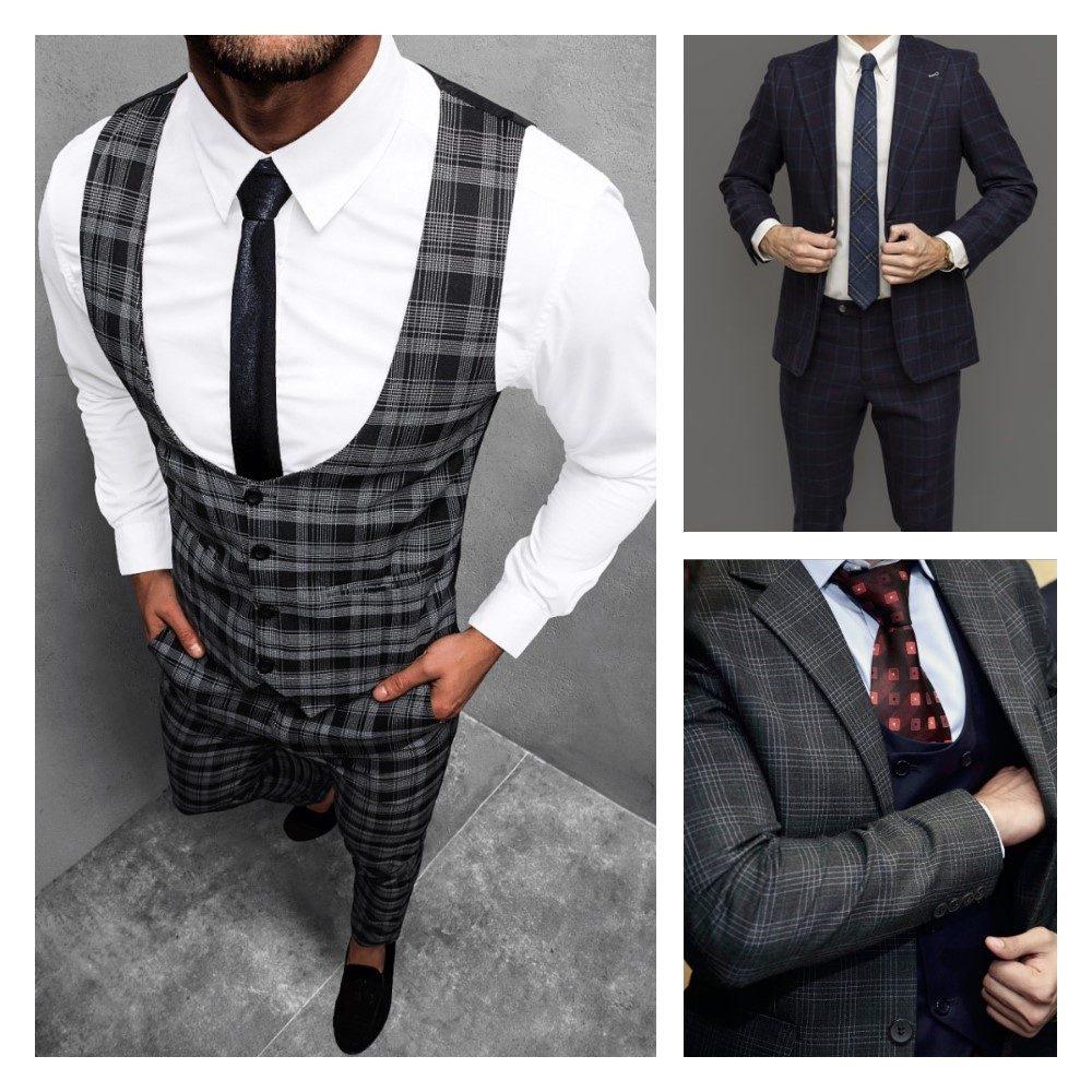 vzorované pánske obleky