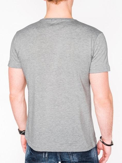 87dbc1212b23 Trendové šedé pánske tričko s990 - Budchlap.sk