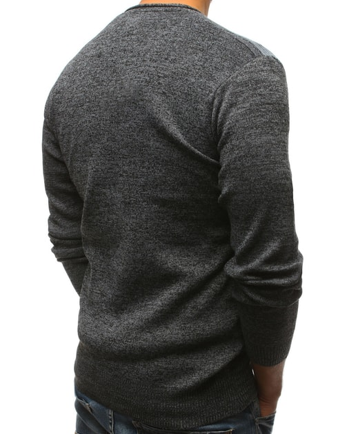 5574cb583723 Antracitový sveter s gombíkmi - Budchlap.sk