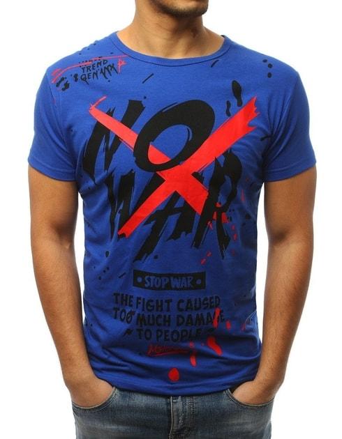 3a40fafa4fb3 Trendové modré tričko NO WAR - Budchlap.sk