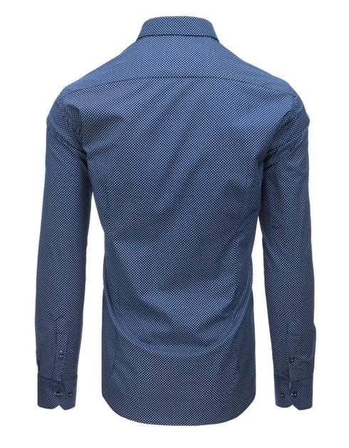 6f1ebfde0394 Nebesky modrá košeľa s bielym vzorom - Budchlap.sk