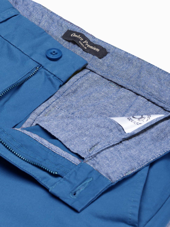 modré pánske chino nohavice