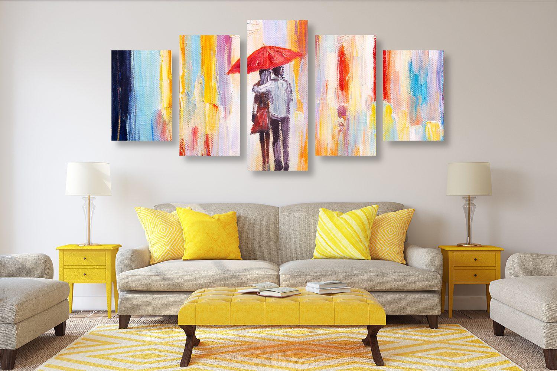 Obraz s témou lásky zavesení v obývačke