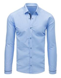 d10360bed90e -38% Skladom Modrá košeľa v zaujímavom prevedení ...