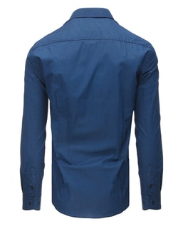 2053736db ... Slim fit granátová pánska košeľa