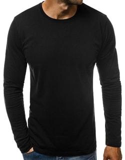 698edbcac4c2b -15% Skladom Jednoduché čierne tričko s dlhým rukávom O/1209 ...