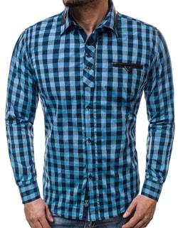 8cd113cd48af Skladom Fantastická modrá košeľa ZAZZONI 9440 ...