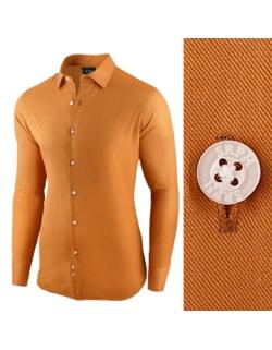 e8f36a1b814d -33% Skladom Camelová pánska košeľa s dlhým rukávom