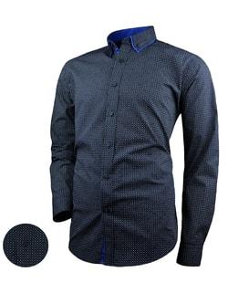 64f3a8edc409 Skladom Granátová pánska košeľa V287 ...
