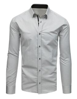 a12a016a28fd -38% Skladom Elegantná vzorovaná šedá košeľa ...
