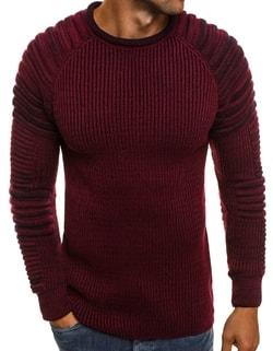 bd6515793495 Pohodlný sveter MADMEXT 2035 v bordovej farbe ...