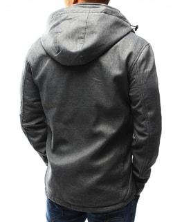fede68a60 ... Pánska šedá prechodná bunda s kapucňou