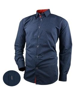 1891883246e9 Skladom Granátová pánska košeľa s drobnými bodkami V267 ...