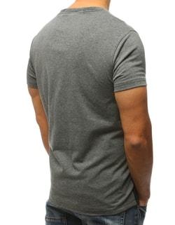 b950077ff694 ... Klasické tričko v antracitovej farbe