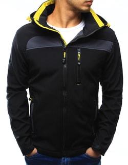 504e7abbf3e0 -57% Skladom Pohodlná čierna bunda so žltým lemom ...