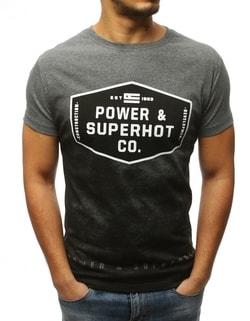 34b42865cf0b -57% Klasické tričko v antracitovej farbe ...