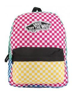 Farebný ruksak VANS WM REALM BACKPACK CHECKER BLOCK