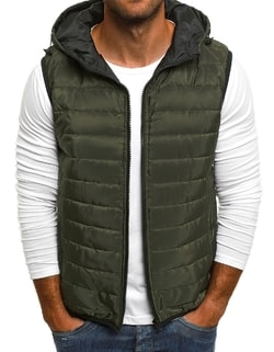 35cd1661653d Prešívaná khaki vesta J.STYLE AK88 ...
