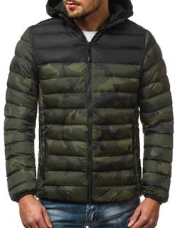 896c854871d45 -15% Skladom Zelená zimná bunda s maskáčovým vzorom JS/SM35 ...